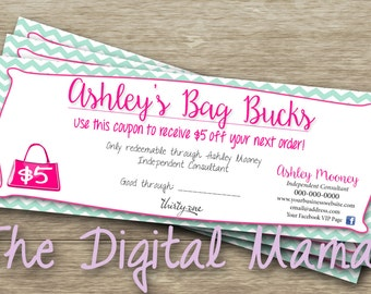 Direct Sales Consultant Bag Bucks - Direct Sales Coupon - Thirty-One - Digital Download