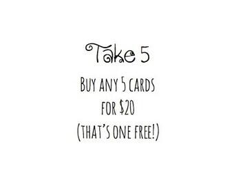 Letterpress Printed Greeting Cards: Take 5