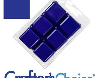 Matte Cobalt Blue Soap Color Bar, Non-bleeding soap color blocks, 6 Blocks Per Bar! (8371)