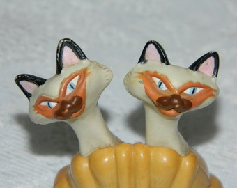 Disney Characters,  vintage Siamese Cats Figurine