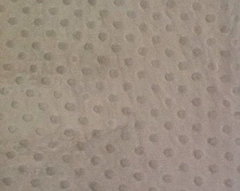 2/3 Yard Polyester Textured Minky Fabric White