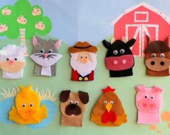 Old MacDonald Farm Finger Puppet Set