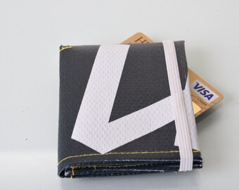 Black Trifold Wallet repurposed  from london 2012 Olympic banner