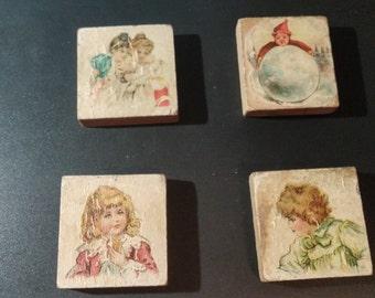 Victorian Children's Alphabet Blocks (4)