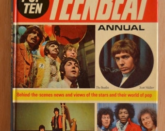 Teenbeat Annual, issue from 1969, with a.o. Pink Floyd, Rolling Stones and The Beatles