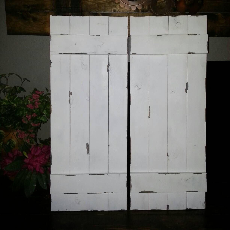 Rustic Wood Shutter 54 Primitive Shutters Wooden
