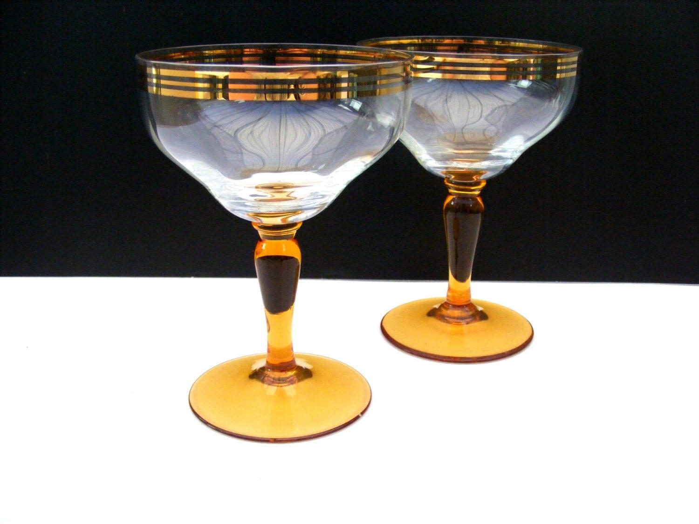 pair of vintage champagne coup glasses. Black Bedroom Furniture Sets. Home Design Ideas