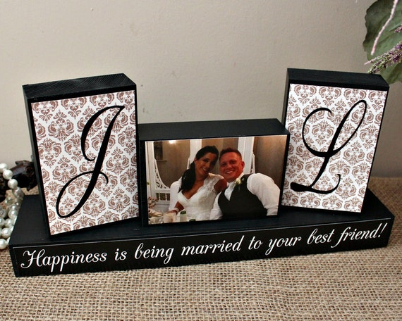 Personalized Wedding Gifts For The Couple : Personalized Unique Wedding Gift for Couples, Wedding Wood Sign ...
