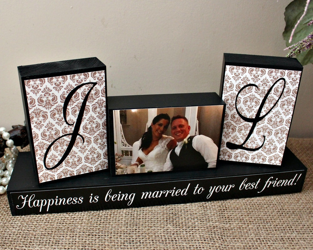Monogrammed Wedding Gifts For Couple : Personalized Unique Wedding Gift for Couples by TimelessNotion