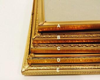 Vintage 8x10 Gold Toned Frame Detailing Victorian Style Romantic Decor Hippie Boho Decoration Antique frames
