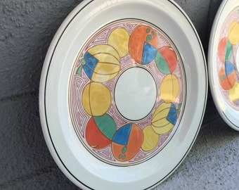 Clarice Cliff Melons Dinner Plate Clarice Cliff Plates Midwinter Stonehenge Plates Vintage Dishes Wall Plates Newport Pottery Melons