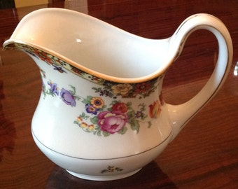 Phoenix China Pitcher with Flowers