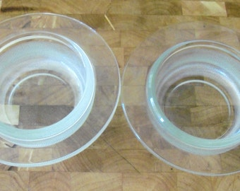 Set of 2 Heller Vignelli Small Ramekins / Soup Bowls