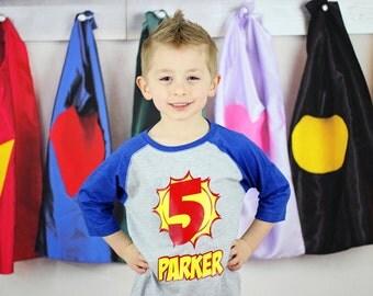 Superhero Birthday shirt, superhero party, comic birthday shirt, comic party, superheros birthday, boys birthday party,