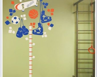 Vinyl Wall Decal growth chart for boys