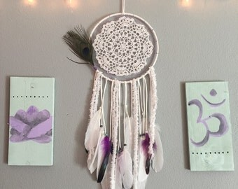 All white dream catcher