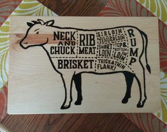 Cow Cutting Board Etsy