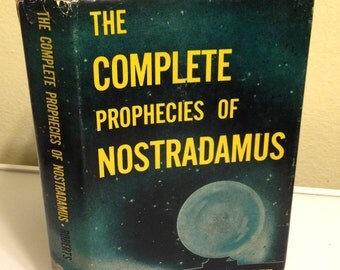 The Complete Prophecies of Nostradamus - Trans., Ed. by Henry C Roberts 1972 HBDJ