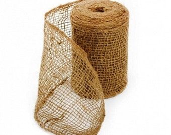 Hessian Ribbon Burlap Roll 150mm x 9.1m CRAFT Natural Rustic Country Rustic / country weddings and events!