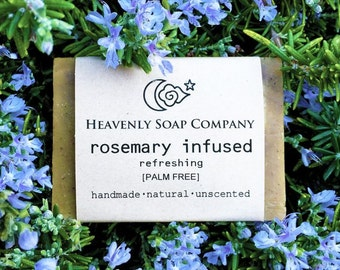 ROSEMARY INFUSED SOAP (Unscented)