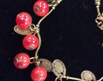 Berries and Bronze Bracelet