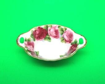 Old English Rose Royal Albert Sweet Meat Dish
