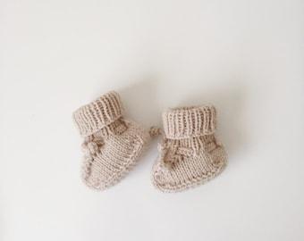 Baby Booties, Socks, Merino Wool