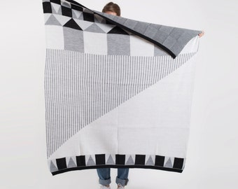 """Knitted Wool """"CASA"""" Blanket. Super Cozy and Warm"""