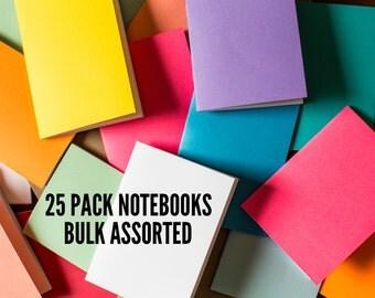 Bulk Notebooks 25 Pack journal Handmade Pocket Journals, Mini Diaries, Jotters, Blank Books, Kraft Paper Notebook, FREE U.S. SHIPPING