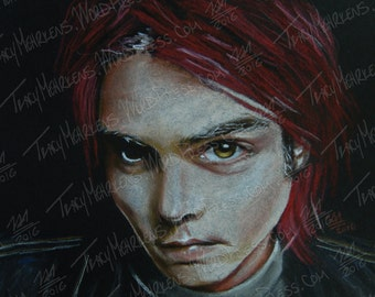 Gerard Way (My Chemical Romance) 7x5 in. Pastel Drawing on Paper, 2016