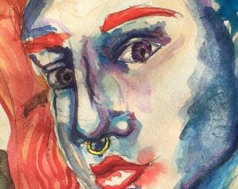 Odd colored girl original painting