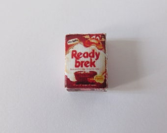 Dolls House Miniature Ready Brek Chocolate