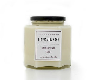 Cinnamon Bark Candle, Cinnamon Scented Candle, Large Candle, Cinnamon Scent, Cinnamon Candle, Candle, Luxury Candle, Bakery Scent