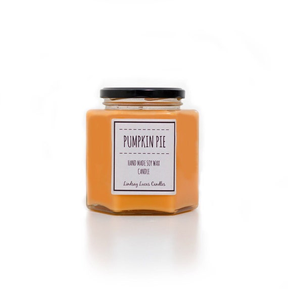 Pumpkin pie handmade soy wax candle
