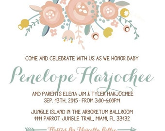 Garden Babyshower Invitations