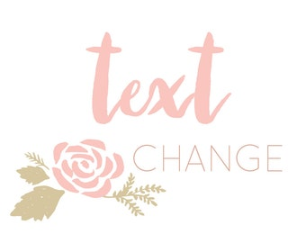 Text or Font Change to any digital download in my shop