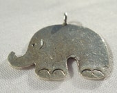 Sterling Silver Elephant Charm   925 Sterling Silver Cute Elephant Charm Pendant   Elephant Pendant