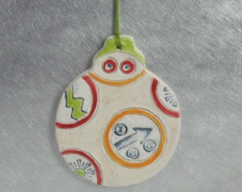 Rollie Robot Ornament, Handmade Ceramics by Karlene Voepel