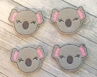 """4 cutie koala felties 1.5""""x2"""""""