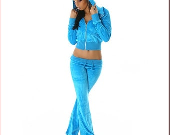Leisure Suit Hoodie Jacket trousers Sweatpants Sweater XS 34 36 Womens Jacket turquoise