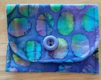 Purple Batik - Gift Card/Cash/Credit Card Pouch