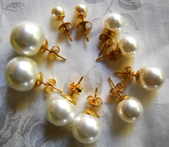 Mallorca Pearl Necklace: Stud Majorca/Mallorca Pearl Earrings In White Majorca Pearls