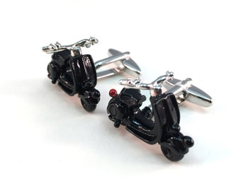 Black Scooter Cuff Links