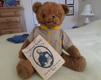 SALE   Colonial Teddy-- The Teddy Roosevelt Bear with Booklet