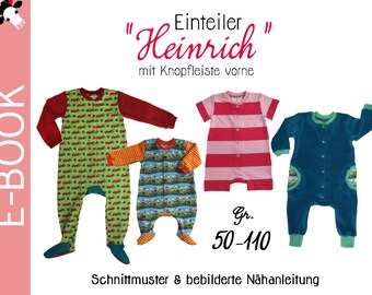 "pdf - Jumpsuit ""HEINRICH"" Coverall sewing pattern Gr. 50-110 (0m-5T)"