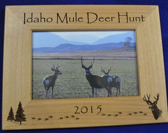 Hunting. Mule Deer Hunting. Hunting Frame. Hunting Gift. Gift For Hunter. Hunting Picture Frame. Mule Deer Hunter Gift. First Hunt Gift.