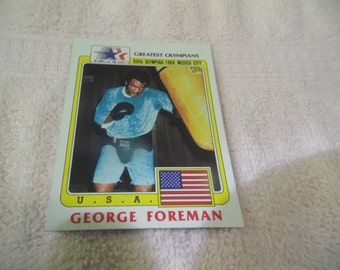 Rare 1983 GEORGE FOREMAN Greatest OLYMPIANS #19 mint
