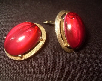 Selini Earrings Ruby Red; Stunning!! Free Shipping in the US
