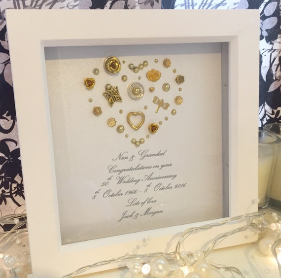 Items Similar To 50th Golden Wedding Anniversary Gift 50th Anniversary Present Personalised