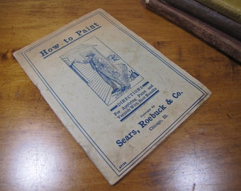 Vintage Sears, Roebuck & Co. How to Paint Booklet